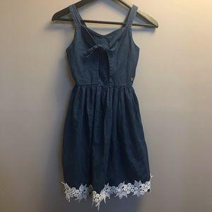 3/$20 Bebe- girls summer denim dress size L (14)